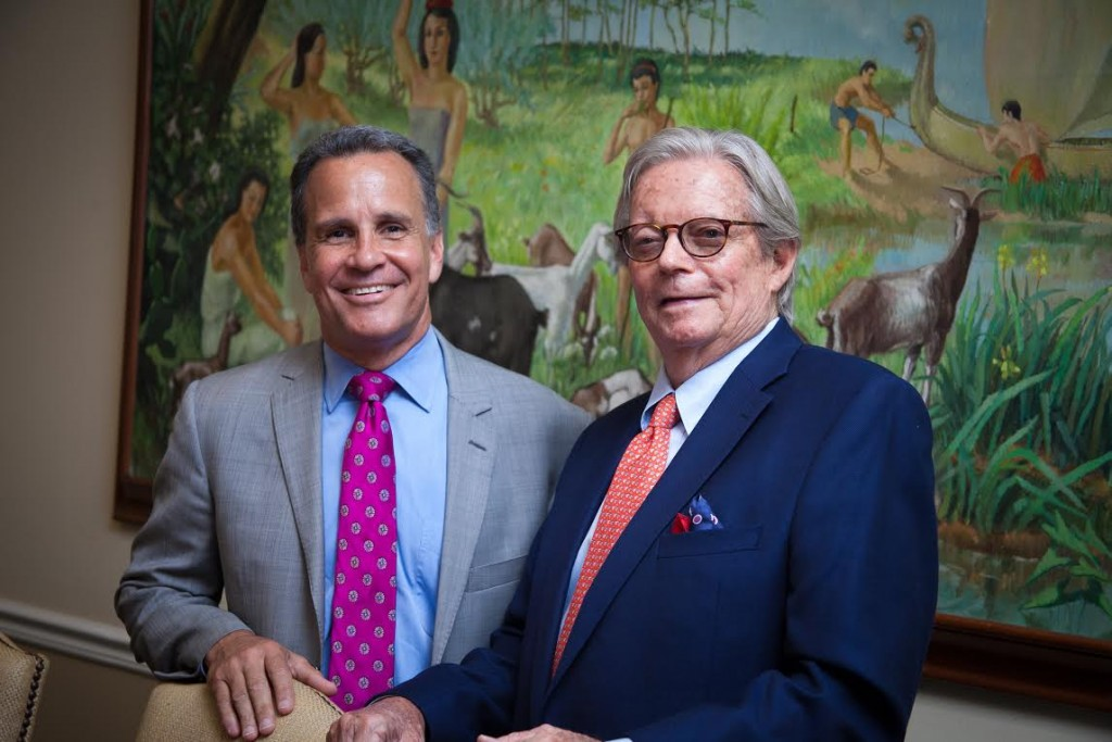 """Keyes CEO Mike Pappas and Illustrated Chairman Francis Fiske """"Bud"""" Adams Jr."""