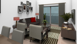 Interior rendering of a unit at Related's proposal