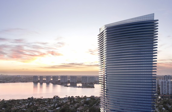 Rendering of the Residences by Armani/Casa