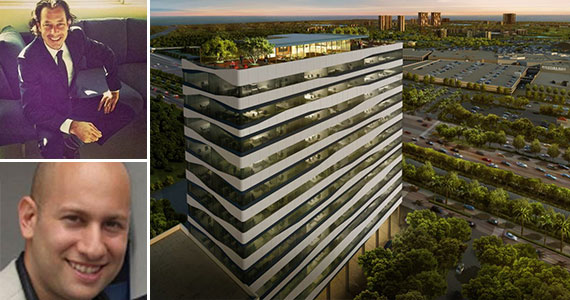 From top left, Privé Land Banking CEO Javier Rabinovich, COO Mariano Karner, and a rendering of the project