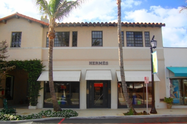 The Hermès store at 240 Worth Avenue