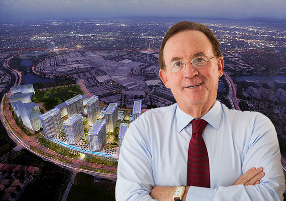 A rendering of Metropica and developer Joseph Kavana