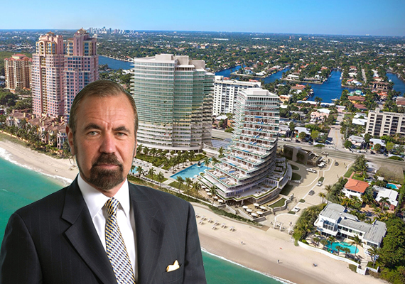 Rendering of Auberge Fort Lauderdale and Jorge Perez