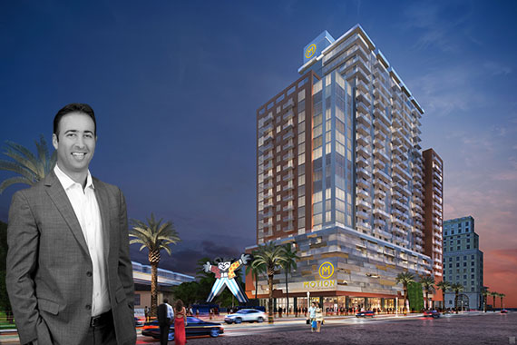 Rendering of Motion at Dadeland and Arnaud Karsenti of 13th Floor Investments