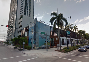 The sales center at 1440 Biscayne Boulevard
