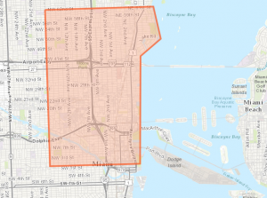 The county's spraying area