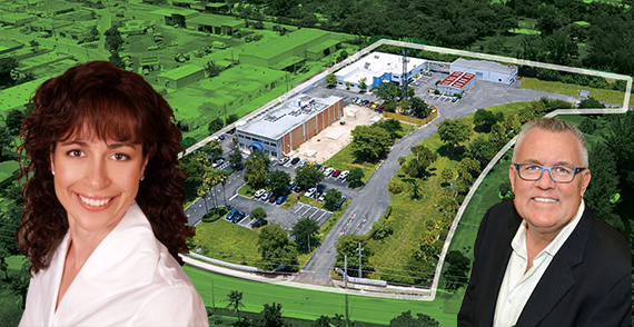 The Equality Park Campus. Inset: Stephanie Berman and Robert Boo