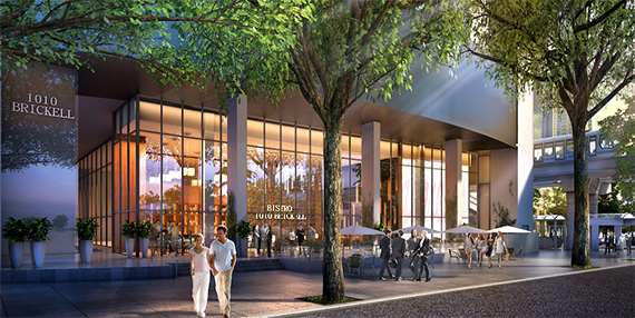 Rendering of the tower's ground floor retail space