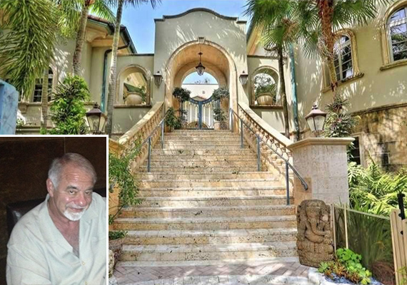 Lloyd Boggio's home at 3316 Devon Court in Coconut Grove. Inset: Boggio