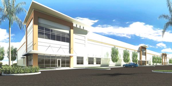 Rendering of County Line Logistics Center at Fancy Farms in Plant City