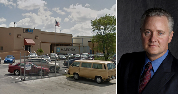 The Miami warehouses and Mark Kowlzan, CEO of the Packaging Corporation of America