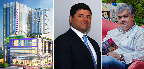 Rendering of Triptych, JQ Group of Companies CEO Jesus Quintero and HES Group CEO Francisco Arocha
