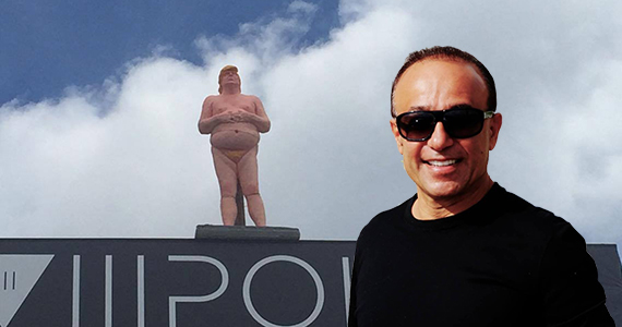 The Donald Trump statue and Moishe Mana