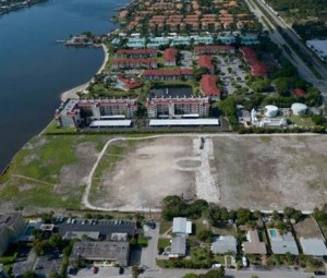 Aerial of the development site