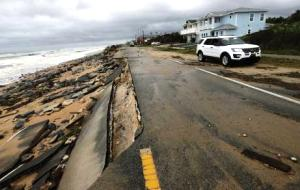 Storm damage on A1A in Flagler Beach (Source: Associated Press)