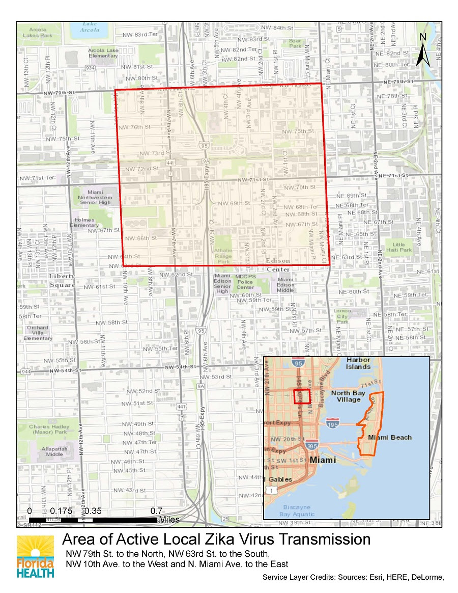 New Zika Zone Confirmed in Miami-Dade