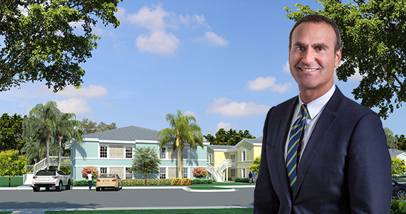 Rendering of the renovated Covenant Villas and Housing Trust Group President Matt Rieger)
