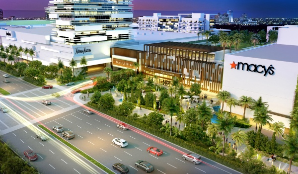 Rendering of proposed development on the Galleria mall property in Fort Lauderdale