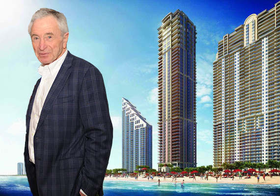 Rendering of the Mansions at Acqualina (Credit: Neoscape) and Jules Trump