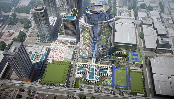 Rendering of the redesigned Miami Worldcenter