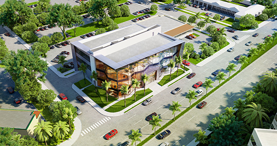 Rendering of the furniture showroom at 105 North Federal Highway