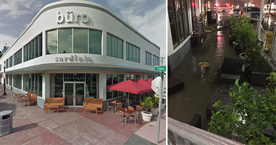 1801 Purdy Avenue prior to the streets being raised, and a photo of the October flood at Sardinia