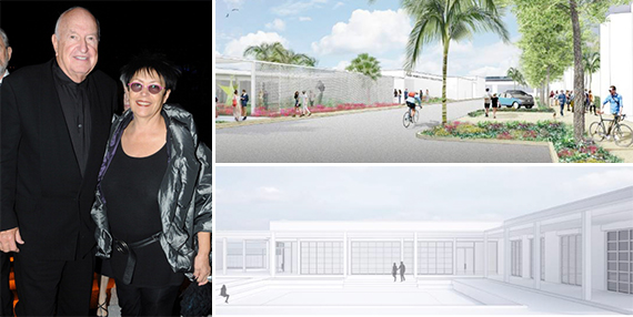 Don and Mera Rubell (Credit: Getty Images) and renderings of the Rubell Family Collection