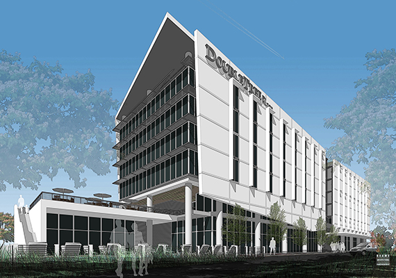 Rendering of the Doral DoubleTree by Hilton