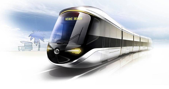 Rendering of Alstom's proposed light rail project