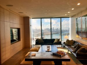 The penthouse has 270 degree views of the ocean, Government Cut and Miami Beach