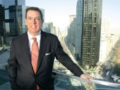 Steven Durels, SL Green's leasing director, overlooking Columbus Circle last month