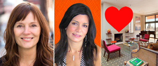 Photo collage of COREs Vickey Barron, matchmaker Samantha Daniels and 256 West 10th Street via The Real Deal.