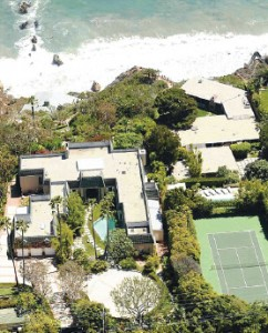 Angelina Jolie and Brad Pitt's Malibu home