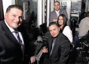 From left: Rapid Realty's Anthony Lolli, Adrian Cardona, Gabriela Falquez and Carlos Angelucci
