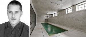 Stuart Parr and his marble-clad swimming pool room