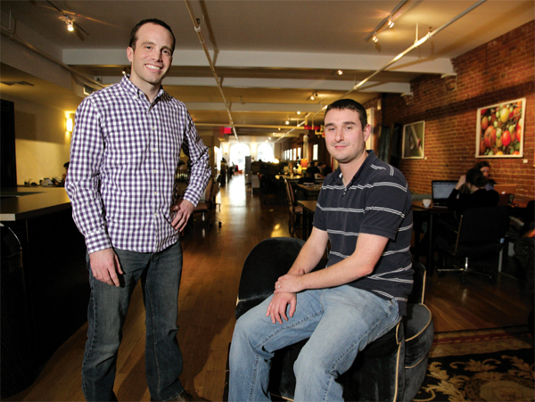 Naked Apartments CEO Joe Charat (left) and Jay Signorello