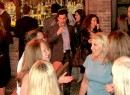 """President and CEO of Prudential Douglas Elliman Dottie Herman in blue and guests at last night's """"Million Dollar Listing New York"""" finale party"""
