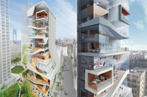 Renderings for the new Columbia medical school building to rise in Upper Manhattan.