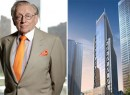 From left: Larry Silverstein and a rendering of 3 WTC