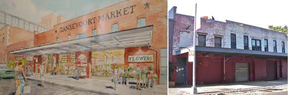 From Left a Market Rendering
