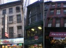 From left: 20 Beaver Street, 53 Nassau Street and 122 Nassau Street (buildings credit: PropertyShark)