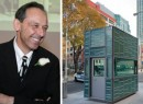 From left: Department of Design and Construction Commissioner David Burney and a security booth at MetroTech