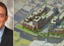 From left: Lightstone's Chairman and CEO David Lichtenstein and a project rendering (credit: Curbed)