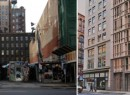 From left: the marketplace (credit: PropertyShark) and a rendering of 688 Broadway (credit: Curbed)