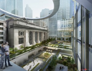 A rendering of the proposed renovation of the Grand Central area