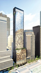 A rendering of the Baccarat Hotel and Residences New York
