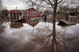 A flooded home on Staten Island