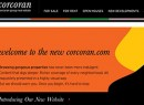 From left: Corcoran President Pam Liebman and a screenshot of the redesigned Website