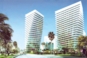 A rendering of the Grove at Grand Bay project