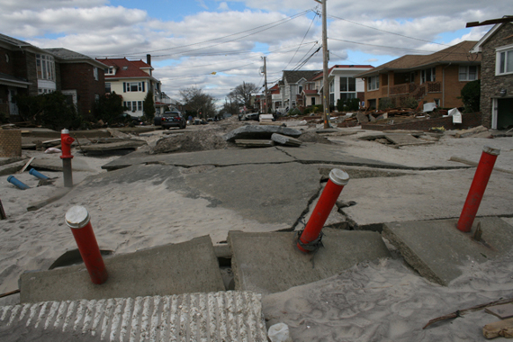 Storm damage to Beach 134th Street
